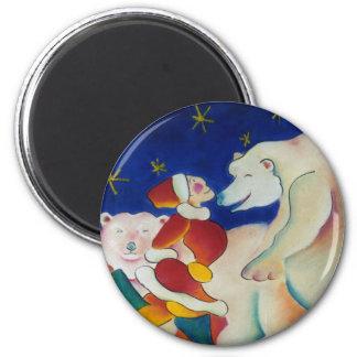 Circus Polar Bears Magnet
