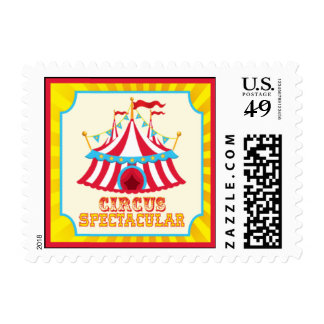 Circus Postage Stamps