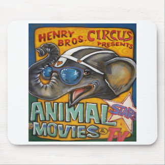 Circus Poster Mousepad - Shorty the Elephant