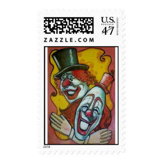 Circus Poster Postage Stamp - Clowns