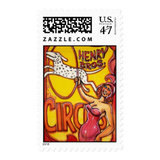 Circus Poster Postage Stamp - Dog Act