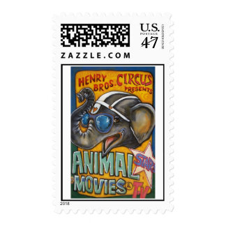 Circus Poster Postage Stamp - Shorty the Elephant
