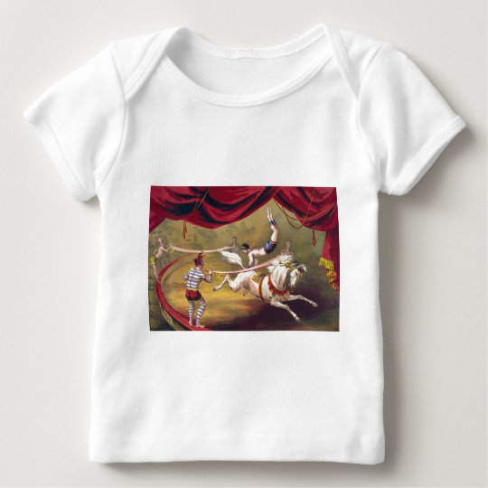 Circus poster showing acrobat performing on horse baby T-Shirt