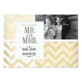 Circus Poster Style - Ombre Chevron Stripe Zig Zag 5x7 Paper Invitation Card