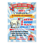 Circus Poster Style Party Invitations