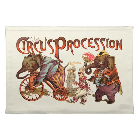 Circus Procession Cloth Placemat