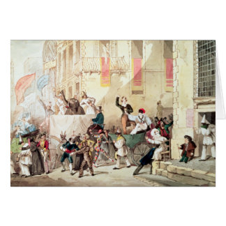 Circus Procession in Italy, 1830 Card
