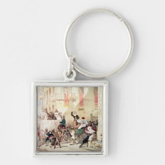 Circus Procession in Italy, 1830 Keychain