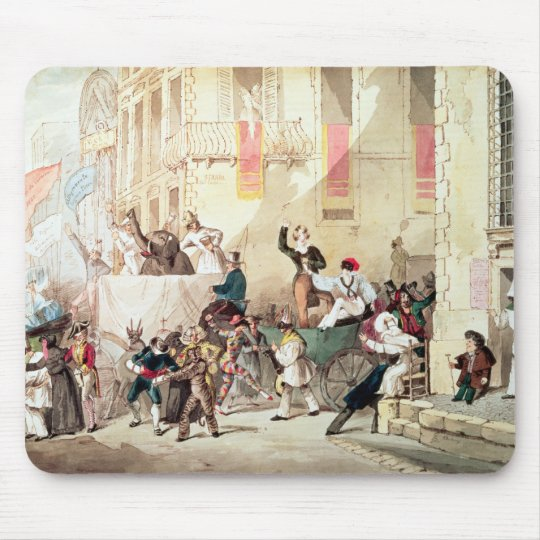 Circus Procession in Italy, 1830 Mouse Pad