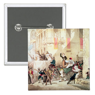 Circus Procession in Italy, 1830 Pinback Button