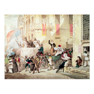 Circus Procession in Italy, 1830 Postcard