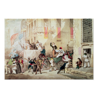 Circus Procession in Italy, 1830 Poster