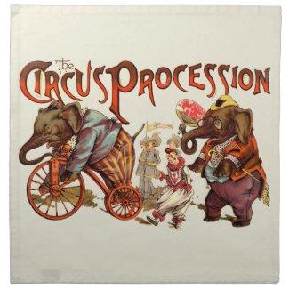 Circus Procession Napkin