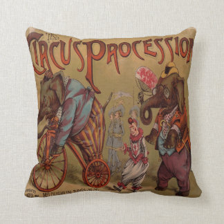 Circus Procession Throw Pillow