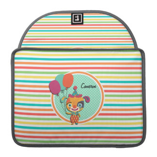 Circus Puppy; Bright Rainbow Stripes Sleeves For MacBooks
