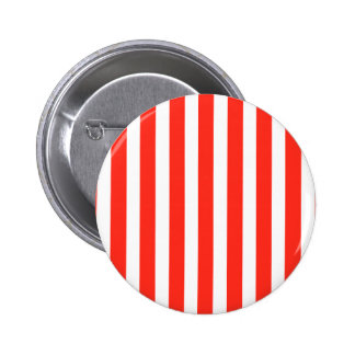 Circus Red and White Cabana Stripes 2 Inch Round Button