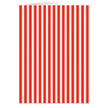 honor_and_obey Circus Red and White Cabana Stripes Card