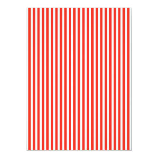 Circus Red and White Cabana Stripes Card