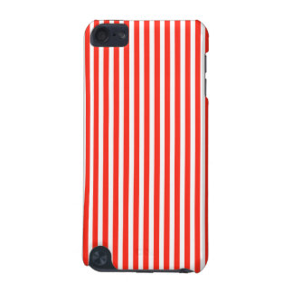 Circus Red and White Cabana Stripes iPod Touch 5G Case