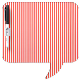 Circus Red and White Cabana Stripes Dry-Erase Board