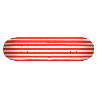Circus Red and White Cabana Stripes Skateboard