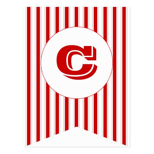 Circus Red Party Flag Bunting Banner Post Card