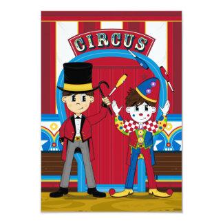 Circus Ringmaster and Clown RSVP Card