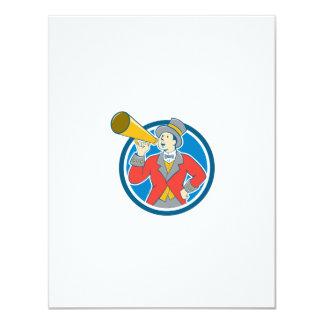 Circus Ringmaster Bullhorn Circle Cartoon 11 Cm X 14 Cm Invitation Card