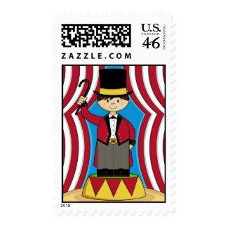 Circus Ringmaster Stamp stamp