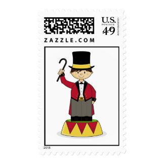 Circus Ringmaster Stamp