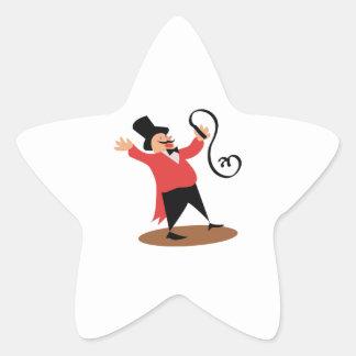 Circus Ringmaster Star Sticker