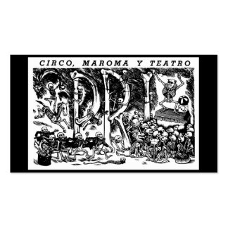 """""""Circus, Rope, and Theatre"""" c. 1951 Mexico Double-Sided Standard Business Cards (Pack Of 100)"""