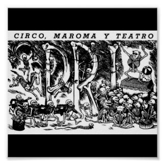 """""""Circus, Rope, and Theatre"""" c. 1951 Mexico Poster"""