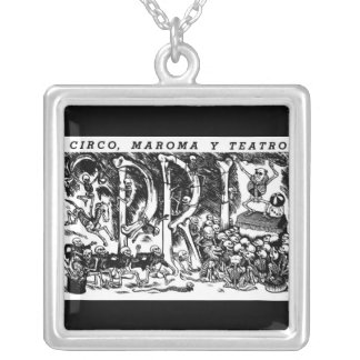 """Circus, Rope, and Theatre"" c. 1951 Mexico Square Pendant Necklace"