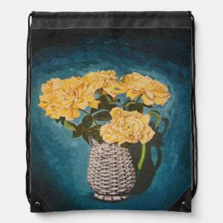Circus Roses Drawstring Bag