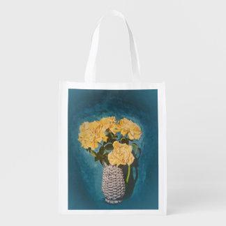 Circus Roses Reusable Grocery Bag
