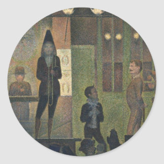 Circus Sideshow by Georges Seurat 1887 Classic Round Sticker
