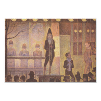 Circus Sideshow by Georges Seurat 3.5x5 Paper Invitation Card