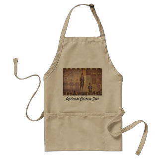 Circus Sideshow by Georges Seurat Adult Apron