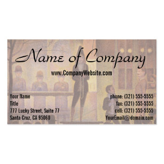 Circus Sideshow by Georges Seurat Business Card Template