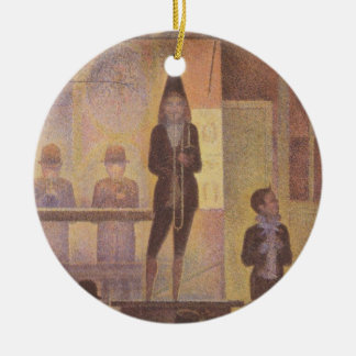 Circus Sideshow by Georges Seurat Ceramic Ornament