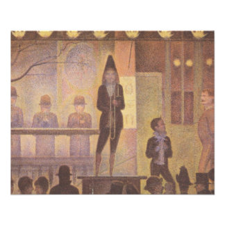 Circus Sideshow by Georges Seurat Flyer