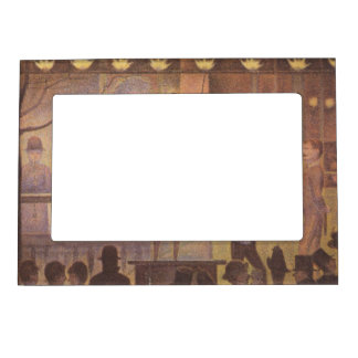 Circus Sideshow by Georges Seurat Magnetic Frame