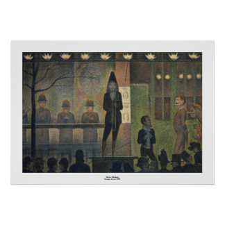 Circus Sideshow by Georges Seurat Print