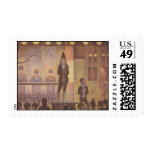 Circus Sideshow by Georges Seurat Stamp