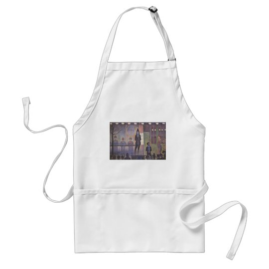 Circus Sideshow by Georges Seurat, Vintage Art Adult Apron