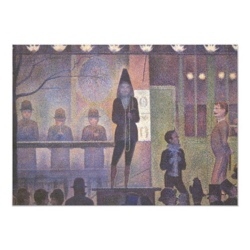 Circus Sideshow by Georges Seurat, Vintage Art Card