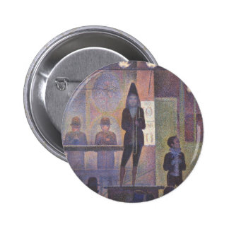Circus Sideshow by Georges Seurat, Vintage Art Pinback Button