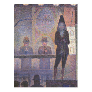 Circus Sideshow by Georges Seurat, Vintage Art Postcard