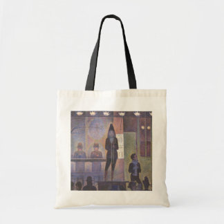 Circus Sideshow by Georges Seurat, Vintage Art Tote Bag